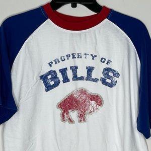 NFL Buffalo Bills Henley T-Shirt sz M